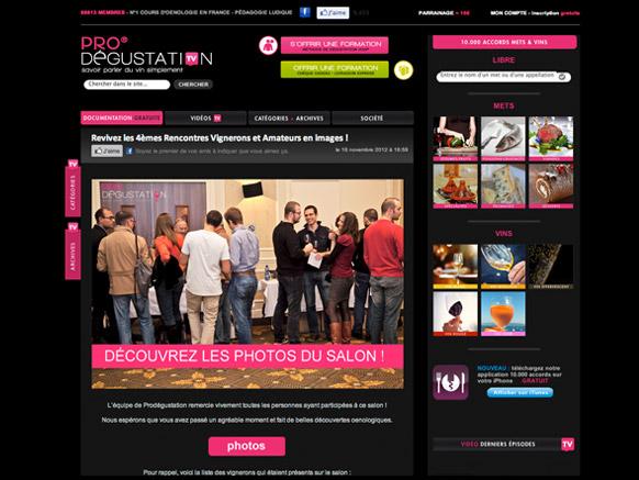 Blog prodegustation.tv avant