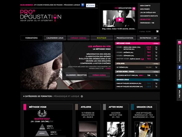 Site prodegustation.com avant