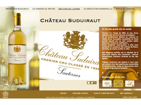 Page Château Suduiraut